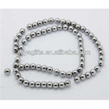 Hematite silver plated 8MM round loose beads for jewelry